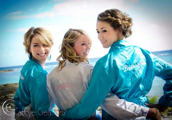 Destination Weddings bridal party robes