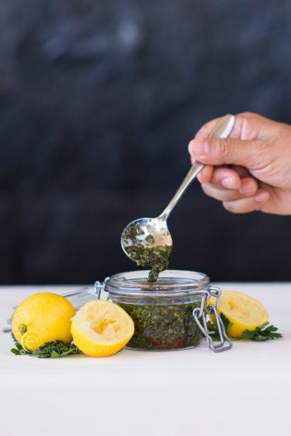 food photography at grand hyatt chimichury and lemons
